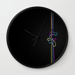 CMYK Lines Wall Clock