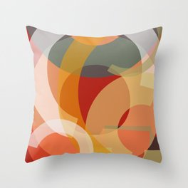 Cores em Semicírculos-2 Throw Pillow