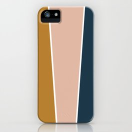 Retro Autumn Color Block iPhone Case