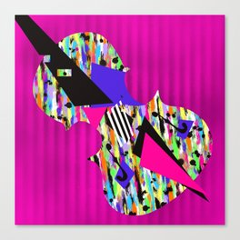 Cello Abstraction on Hot Pink Canvas Print