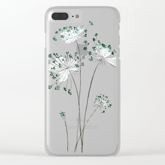 wild carrot watercolor Clear iPhone Case