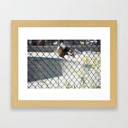 Ty Olsen. Frontside Indy Framed Art Print