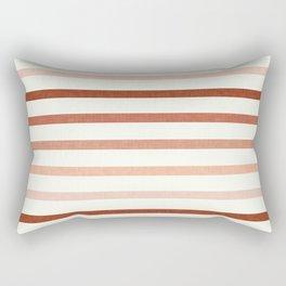 terra cotta stripes  Rectangular Pillow
