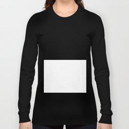 White and Black Horizontal Halves Long Sleeve T-shirt