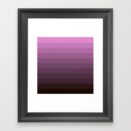 Purple stripes Framed Art Print