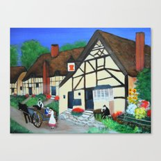 Old Village  Canvas Print