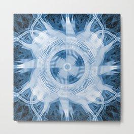 Blue Abstract Turbine Metal Print