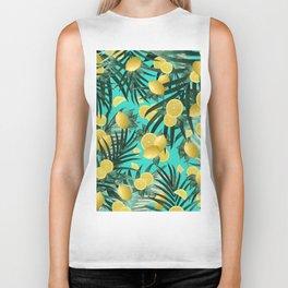 Summer Lemon Twist Jungle #1 #tropical #decor #art #society6 Biker Tank