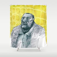 gangster Shower Curtains featuring real gangster by jenapaul