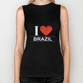 I Love Brazil Biker Tank