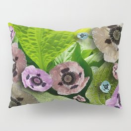 POPPIES AND HOSTAS FLOWERS AND FOLIAGE Pillow Sham