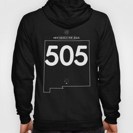 New Mexico For Jesus 505 - Alt White Ink Hoody