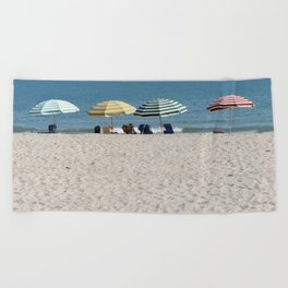 Bald Head Island Beach Umbrellas | Bald Head Island, North Carolina Beach Towel