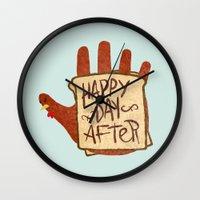 turkey Wall Clocks featuring TURKEY SAMMIDGES by Josh LaFayette