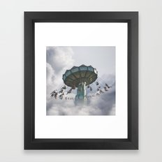 Logic is a systematic method of coming to the wrong conclusion with confidence. Framed Art Print