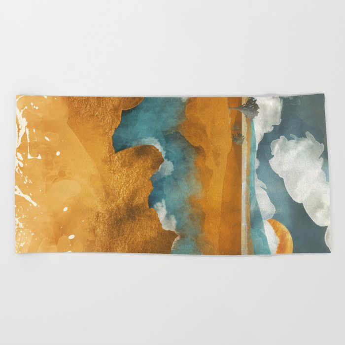 Desert River Beach Towel