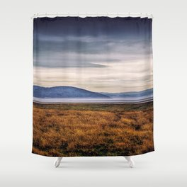 Tranquility in the Grey Shower Curtain
