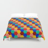 korean Duvet Covers featuring Korean Paving / Big All Over by KAOMAÏL