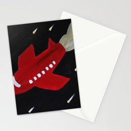 Vacation to Mars Stationery Cards