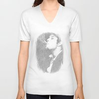 tom waits V-neck T-shirts featuring Tom Waits by EclipseLio