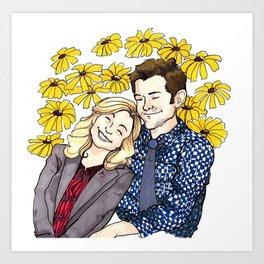 Leslie Loves Ben Art Print