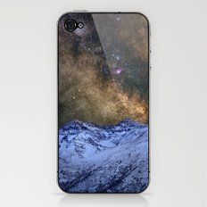 The milky way over the high mountains iPhone & iPod Skin