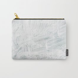 White Paint Abstract Carry-All Pouch