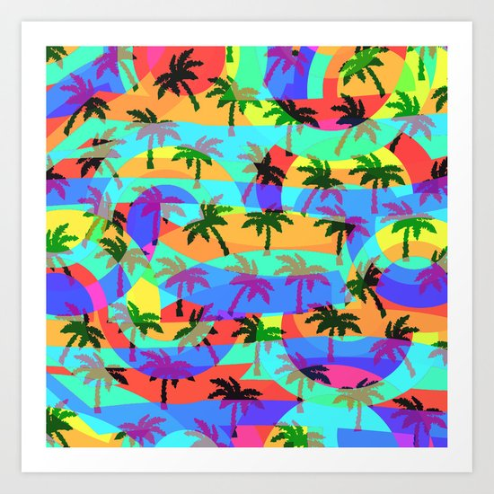 Tropical euphoria Art Print