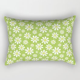 DAISIES ON APPLE GREEN Rectangular Pillow