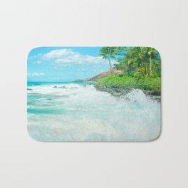 Aloha mai e Pā'ako Beach Mākena Maui Hawaii Bath Mat