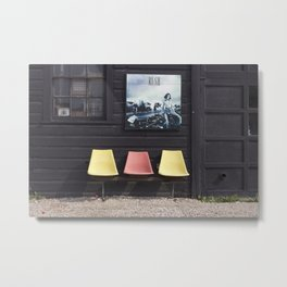 Seats outside Heritage Posters Metal Print