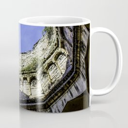 Looking up at the Sky with the Trees Growing on one of the Domes at the Qutb Shahi Tombs in Hyderabad, India Coffee Mug