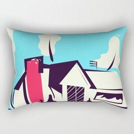 A modern home for 1955! Rectangular Pillow