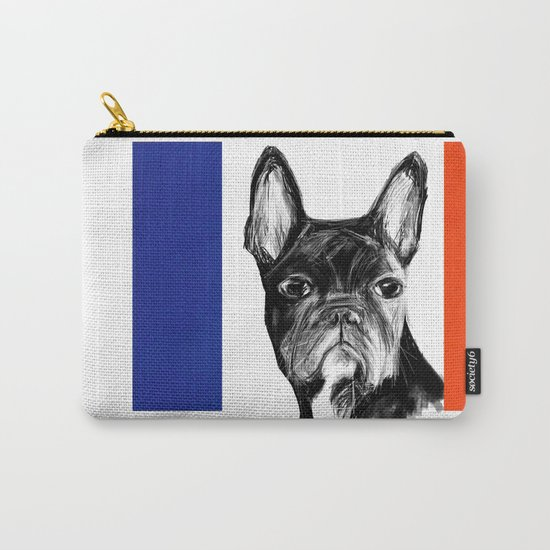 French Bulldog. The Totally French Version... Carry-All Pouch