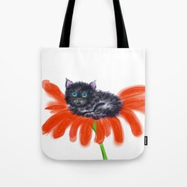 Spookie in the Flower #1 Tote Bag
