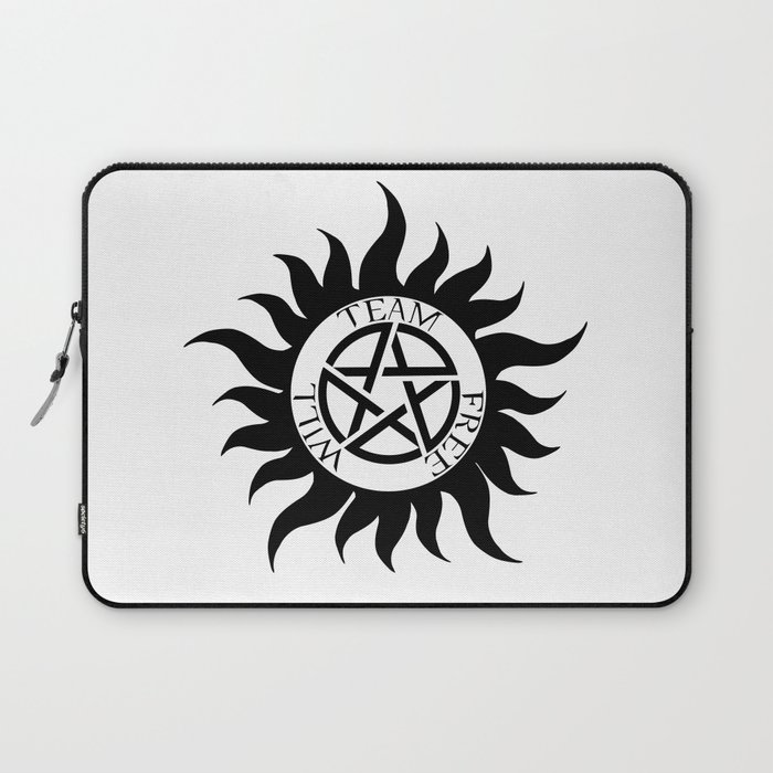 Team Free Will Anti Possession Symbol Supernatural Laptop Sleeve