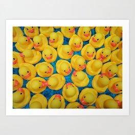 Rubber Duck Meet and Greet Art Print