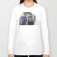 james franco Long Sleeve T-shirts featuring James by JoshuaSooterArt