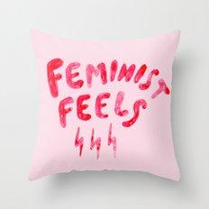 Feminist Feels Throw Pillow
