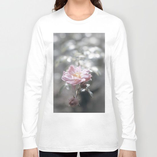 Pink Rose - Flower Floral Roses Long Sleeve T-shirt