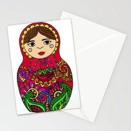 Nesting Doll - Red Palette Stationery Cards