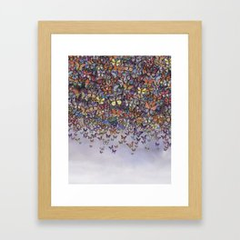 butterfly cascade Framed Art Print