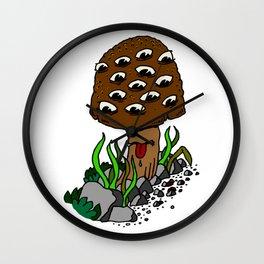 mushroom eyes Wall Clock