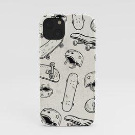 Skateboard helmet, skater pattern iPhone Case