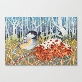 Marshland Chickadee Canvas Print