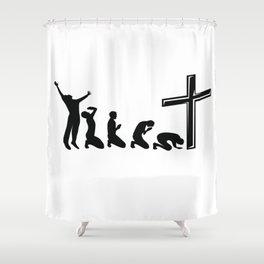 Funny Evolution Of Jesus Religion Christian Gift Shower Curtain