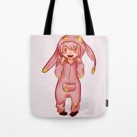 onesie Tote Bags featuring Onesie by Hetty's Art