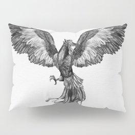 Phoenix Rising - Black and White Pillow Sham