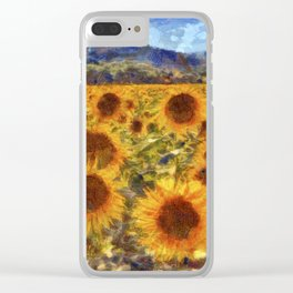 Sunflowers Vincent van Gogh Clear iPhone Case