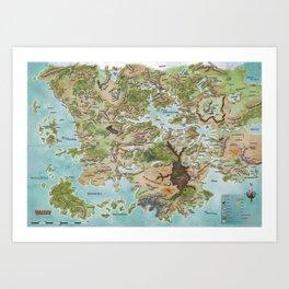 Map of Faerun Art Print
